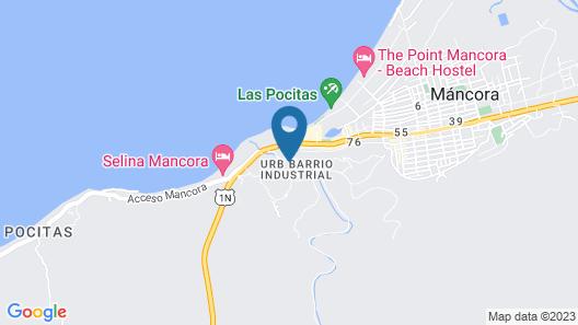 Hospedaje La Quebrada Mancora Map