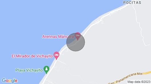 A luxury beachfront home in Mancora Beach Map