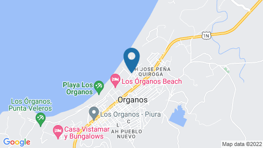 PLAYA LUNA BUNGALOW - Los Órganos Map