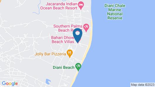Bahari Dhow Beach Villas Map