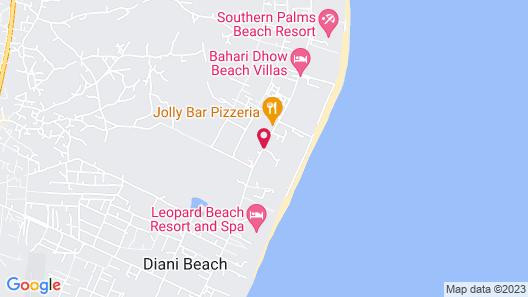 Diani Reef Beach Resort & Spa Map