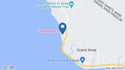 Castello Beach Hotel Map