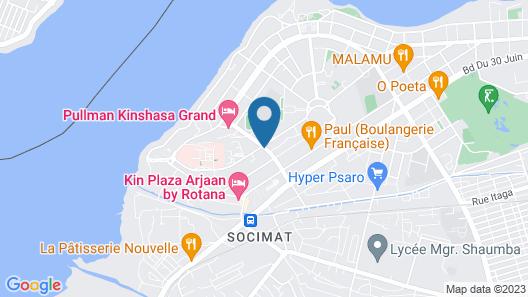 Pullman Kinshasa Grand Hotel Map