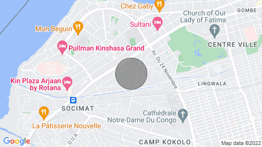 Stunning 1BR in Kinshasa Downtown, steps from the Gov building in Royal Gombe Map