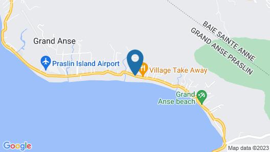 Bliss Hotel Praslin Map
