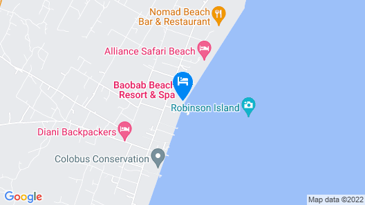 Baobab Beach Resort & Spa - All Inclusive Map