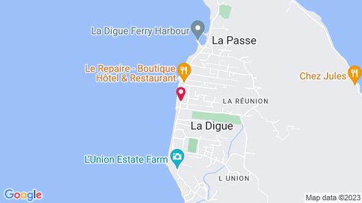 La Digue Island Lodge Map