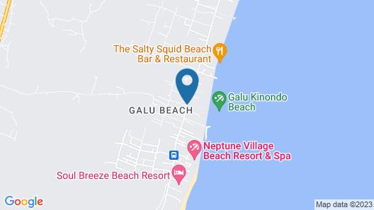 Simba Oryx Beach Cottages Map