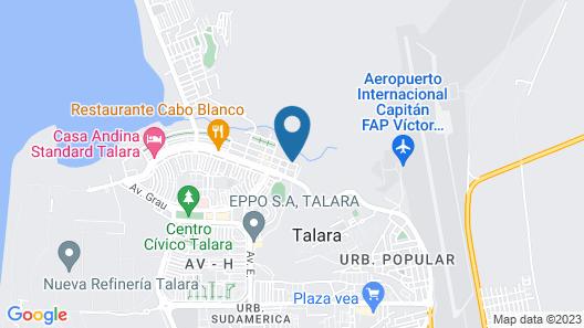 El Angolo Hotel Talara, Piura Map