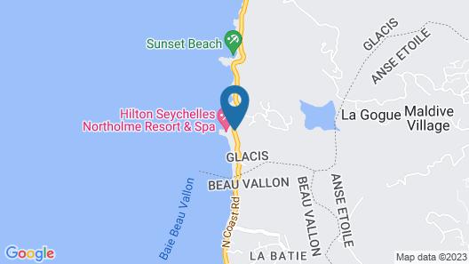 Hilton Seychelles Northolme Resort & Spa Map