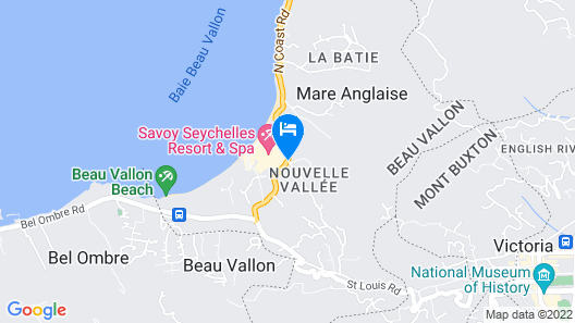 Savoy Seychelles Resort & Spa Map