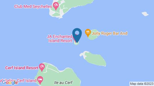 JA Enchanted Island Resort Seychelles Map