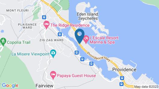 Eden Bleu Hotel Map
