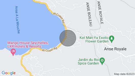 Mahé, Anse à La Mouche: House With Garden, 2 Bedrooms, 2 Bathrooms, Wifi Map