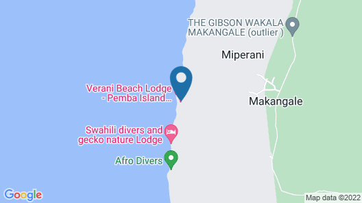 Swahili Divers & Gecko Nature Lodge Map