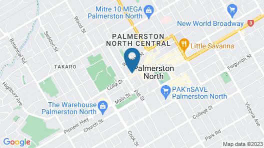 Distinction Palmerston North Hotel & Conference Centre Map