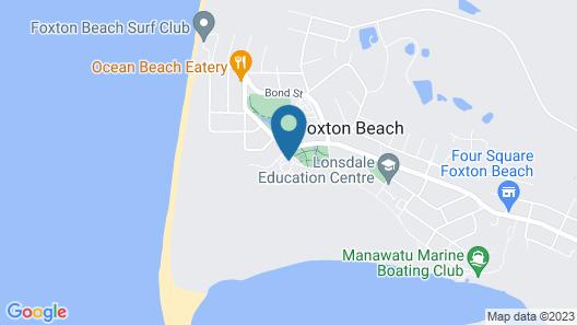 Foxton Beach TOP 10 Holiday Park Map