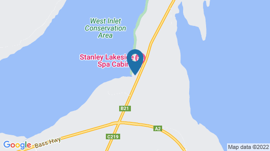 Stanley Lakeside Spa Cabins Map
