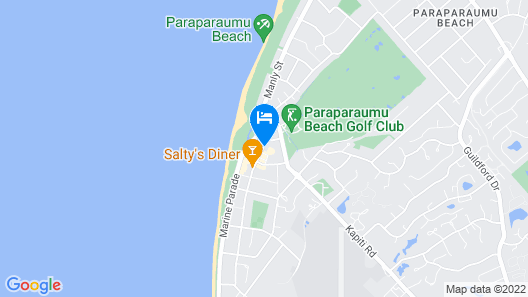 U Studios Paraparaumu Beach Map