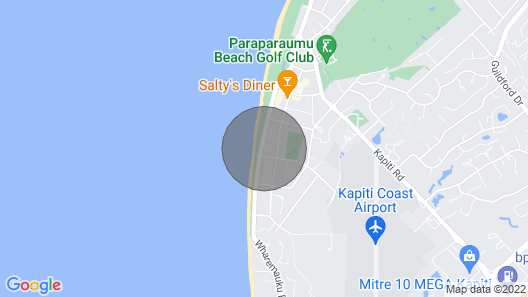 The Green Trout - Paraparaumu Beach Holiday Home Map