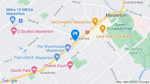 Amble Inn Motel - Masterton Map