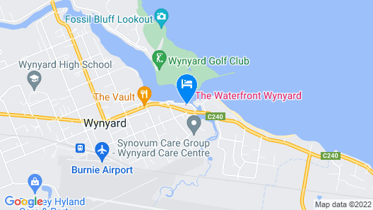 Burnie Airport Motel Map