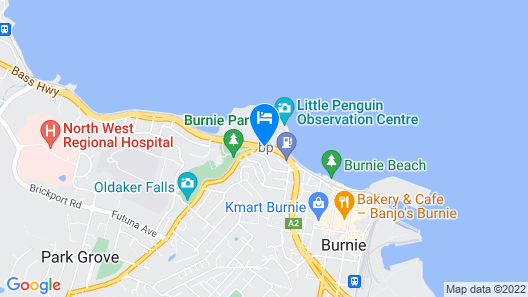 Burnie by the Bay Apartments Map