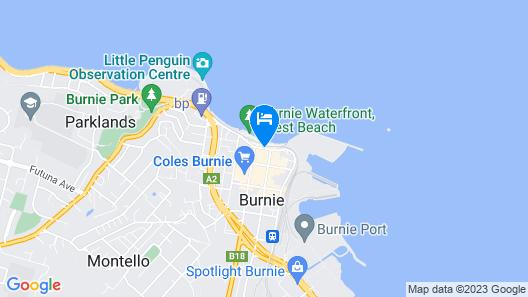 Beachfront Voyager Motor Inn Map
