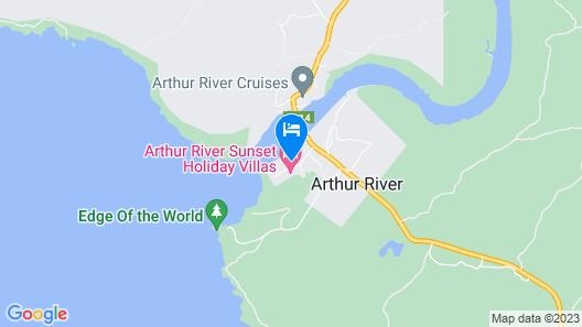 Arthur River Spa Cottage Map
