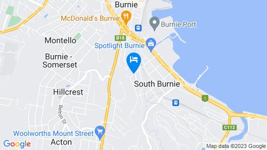 The Menai Hotel Motel Map