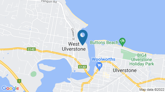 Ulverstone Boutique Accommodation Map