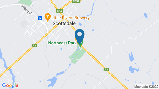 North East Rest Awhile Bed & Breakfast Map