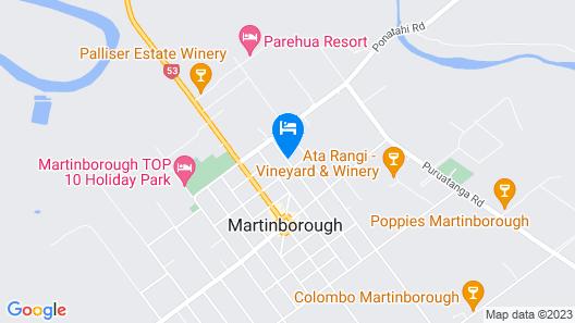 De Vine Martinborough 14 Cologne St Map