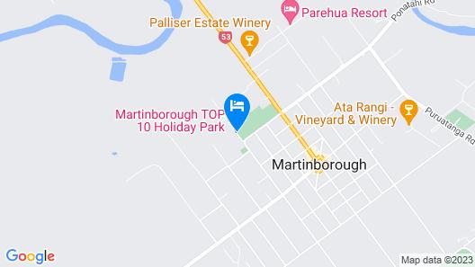Martinborough TOP 10 Holiday Park Map
