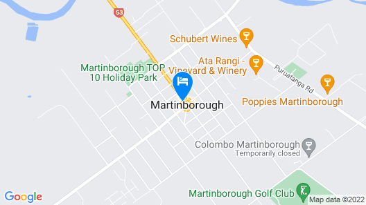 The Martinborough Hotel Map