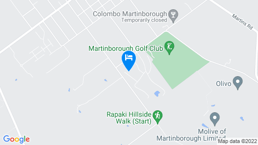 Martinborough Estate Retreat - Martinborough Holiday Home Map