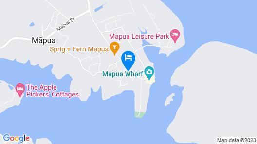 Mapua Wharf Accommodation Map