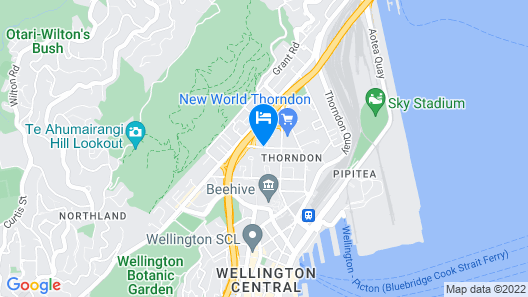 The Thorndon Hotel Wellington by Rydges Map