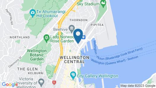 Rydges Wellington Map