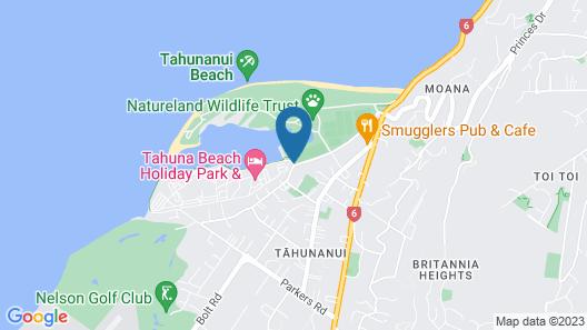 Tahuna Beach Kiwi Holiday Park & Motel Map
