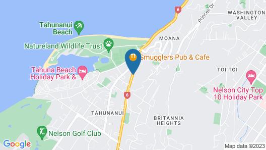 Beaches Nelson Map
