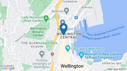 DoubleTree by Hilton Wellington Map