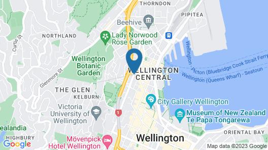 James Cook Hotel Grand Chancellor Map