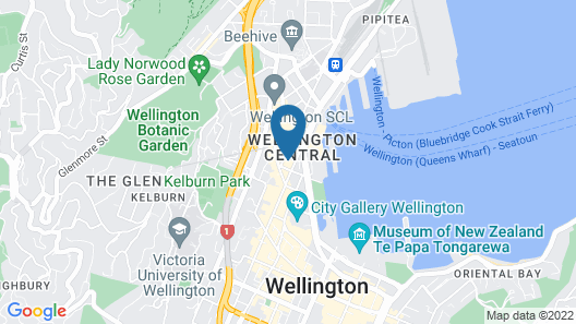 InterContinental Wellington Map