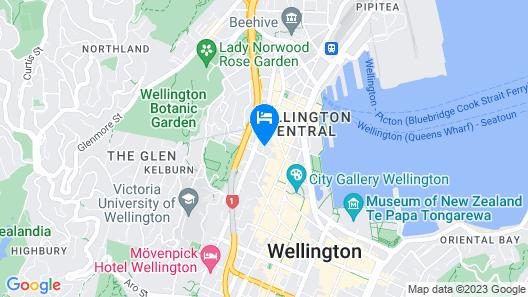 Travelodge Hotel Wellington Map