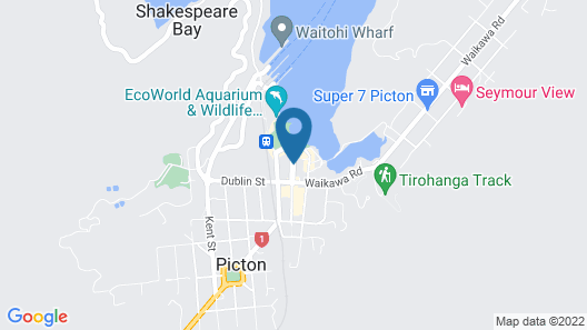 Picton Accommodation Gateway Motel Map