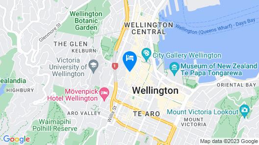 Trinity Hotel Wellington Map