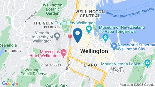 Mercure Wellington Abel Tasman Map