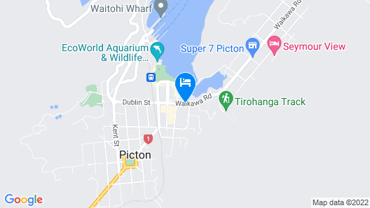 Picton Yacht Club Hotel Map