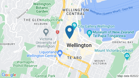 Mercure Wellington Central City Hotel and Apartments Map